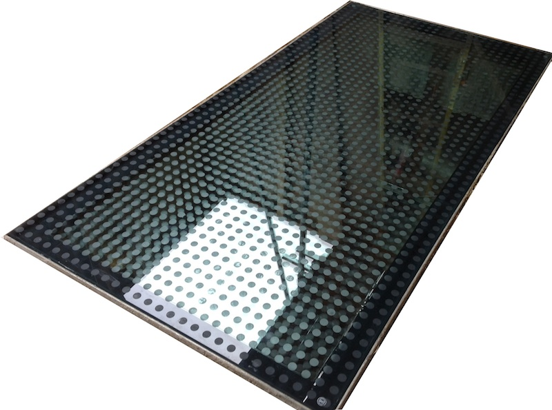 Drive on glass floor / rooflight