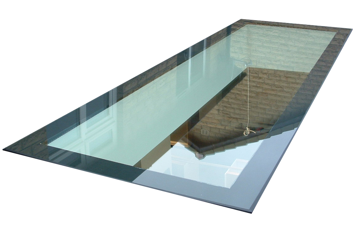 Structural glass design walk on drive on glass floors for Laminate floor panels